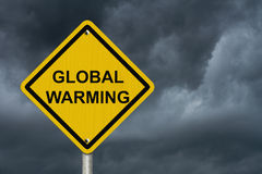 Warning of Global Warming Sign Royalty Free Stock Photography