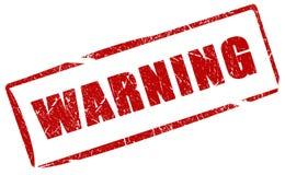 Warning grunge stamp Stock Image