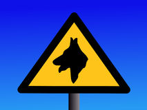 Warning guard dog sign Stock Photography