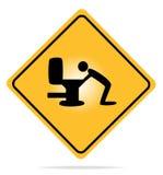 Warning, hangover sign. Royalty Free Stock Photography