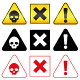Warning Hazard Danger Symbols Royalty Free Stock Photos