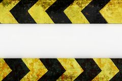 Warning hazard grunge pattern in yellow and black color. Hazard grunge pattern in yellow and black color stock photography