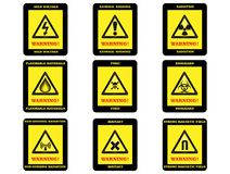 Warning Hazard Signs Royalty Free Stock Images