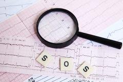 Warning on heart disease Stock Photography