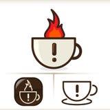 WARNING - heißer Kaffee! Stockfotos