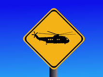 Warning Helicopter sign Royalty Free Stock Photography