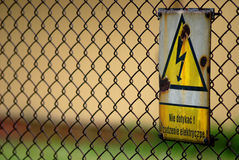 WARNING! High Voltage Sign Stock Photos