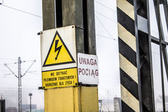 WARNING! High voltage sign Royalty Free Stock Image