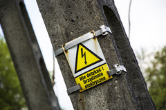 WARNING! High voltage sign Royalty Free Stock Images