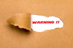 Warning Stock Image