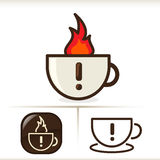 Warning - Hot Coffee!. Totally awesome illustration of a coffee cup with coffee in the cup. Cartoon look and feel Royalty Free Illustration