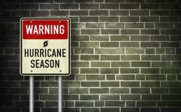 Warning - Hurricane season royalty free stock photos