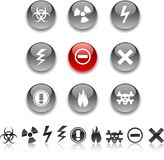Warning icons Royalty Free Stock Photography