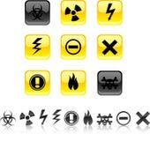 Warning icons. Stock Photography