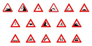 Warning icons Royalty Free Stock Image