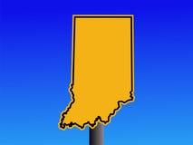 Warning Indiana sign Stock Photos