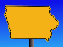 Warning Iowa sign Royalty Free Stock Photo