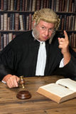 Warning judge. Judge giving a criminal a warming after his desicion stock image