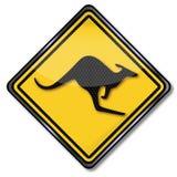 Warning kangaroos Royalty Free Stock Images