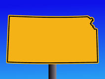Warning Kansas sign Stock Images