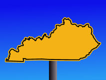 Warning Kentucky sign stock illustration