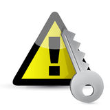 Warning key concept Royalty Free Stock Photography