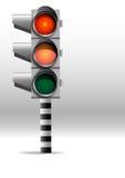 Warning lamp. Warning lights, red, dangerous road, still pass royalty free illustration