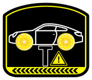 Warning Lemon Car Royalty Free Stock Image