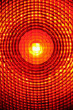 Warning light. Close-up of a burning warning light Stock Images