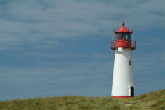 Warning light. Lighthouse from the island sylt, germany Stock Images