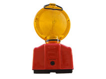 Warning light with clipping path Royalty Free Stock Image