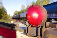 Warning Light on Railway Gate Stock Photos