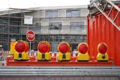Warning Light. Under construction area Royalty Free Stock Photos