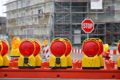 Warning Light. Under construction area Royalty Free Stock Photography