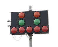 Warning lights at motor racing track Royalty Free Stock Images