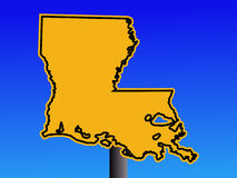 Warning Louisiana sign Royalty Free Stock Photography