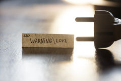Warning  Love Royalty Free Stock Photo