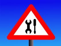 Warning maintenance sign Royalty Free Stock Image