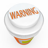 Warning - Medicine Bottle Cap Warns of Danger Royalty Free Stock Images