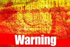 Warning Message. On abstract technology background royalty free illustration