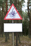 Warning! Mite! Royalty Free Stock Photos