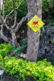 Warning monkeys attack sign Stock Photo