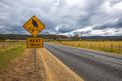 Warning motorcyclists on the road Royalty Free Stock Image