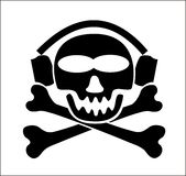 WARNING! music pirate -  Royalty Free Stock Images