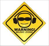 WARNING! Musikzone - Vektor stock abbildung