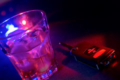 Warning- no drinking and driving Royalty Free Stock Images