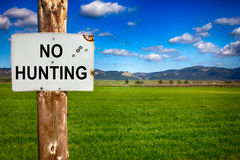 Warning No Hunting Stock Images