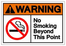 Warning No Smoking Beyond This Point Symbol Sign, Vector Illustration, Isolated On White Background Label. EPS10 vector illustration