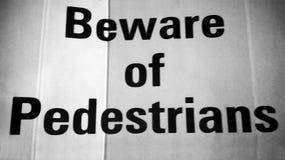 Warning notice Stock Image