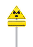 Warning  nuclear Stock Photo